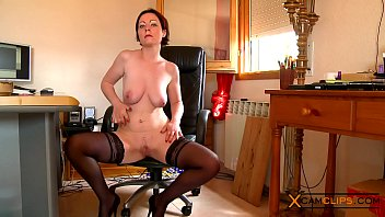 Marion Moon Webcam - Babe in Stockings Plays with her Big Tits