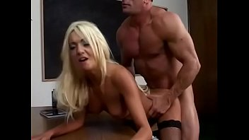 Blonde Donna Doll gets a big cock in her ass in the office pornhub video