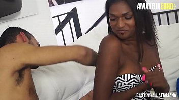 AMATEUR EURO - Anal Ride In Italian Casting For Ebony Babe Maya Secret