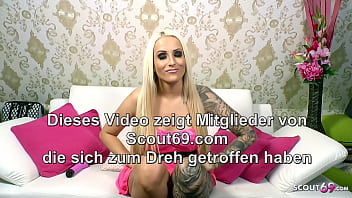 German Dirty Talk Game with Cum Countdown and Hot Teen Tini 6 min