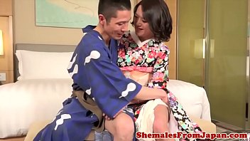 Seductive ladyboy assfucking her lover