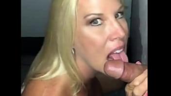 Jenny Jizz Sucking a Fans Dick at a Gloryhole video