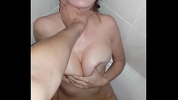 The Boys' Toy: Big Tits Teen Drink Piss and Deepthroat in the Washroom