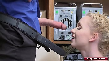 Blonde babe gets punished for stealing