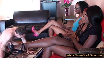 Yahoo black femdom - Measly white guy humiliated by black femdoms