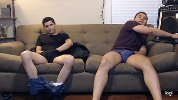 Secret cams gay Couple guys are down to try jerking off together