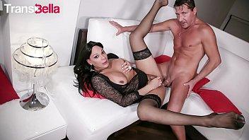 TRANSBELLA - Hot Latina Tranny Marcella Italy Takes Deep Anal From A Very Curious Guy