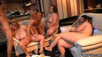 Fat asian sexy party - Lucky guy bangs huge titted fatty