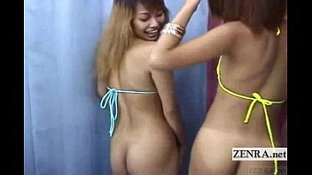 Bikini bombshells exposed - Subtitled japan bikini gyaru double blowjob uncensored