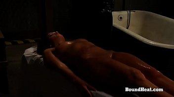 Betrayed Cargo: Oily Naked Slave's Body For Dominant Mistress