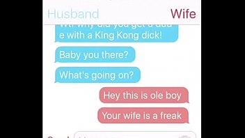 Ebony Hotwife Texting 1