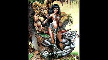 extreme bizarre fantasy sci-fi comic art