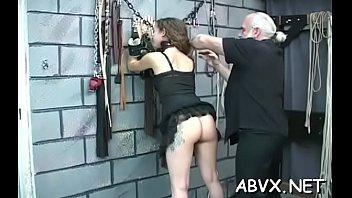Naked cuties love the bizarre bondage porn on cam