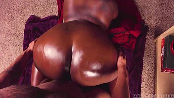 Backshots to Big Ebony Oiled Up ASS