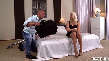 Hot Blanche Bradburry rides his shaft &amp_ rubs her feet against his hard dick