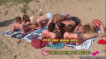 Horny Lesbians on beach