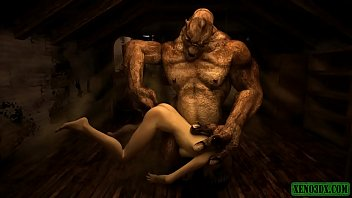3d big black dick sex Orc fucker. 3d hentai horror