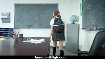 InnocentHigh - Shy Redhead Fucked By Teacher
