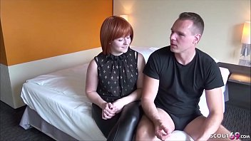 German Redhead Mom in First Time Porn and Creampie Fuck