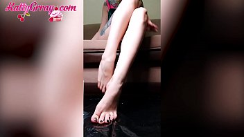 Young Girl Treads Food with Feet - Soft Erotica