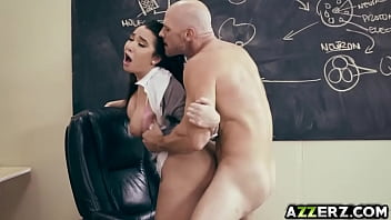 Hot busty student Karlee Grey fucks with prof