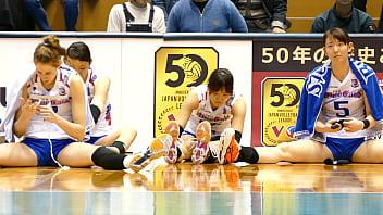 #盗撮動画#凝視厳禁!女子バレーボール選手のたかがストレッチ!されどストレッチw