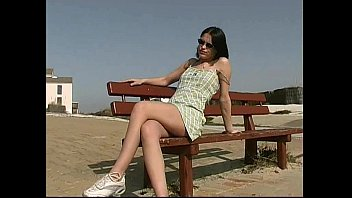 18yo teen decibelle nude in public street thumbnail