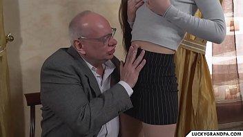 Old Teacher Seduces His Teen Student