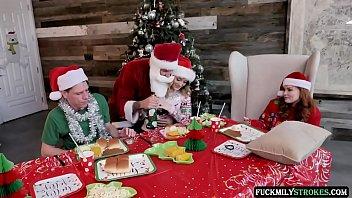 Christmas Family Orgy - Charlotte Sins - FULL SCENE on http://FuckmilyStrokes.com