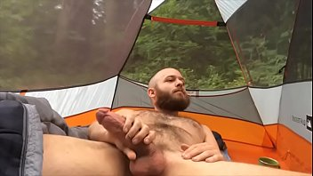 Rubbing one out in the tent on a biking excursion