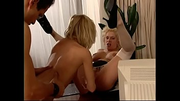 Blonde call girls Katie Gold and Maya are riding one dick and squeezing out all cum