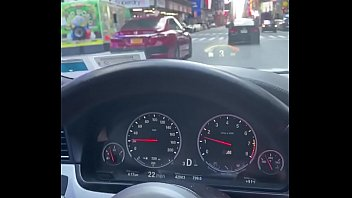 NYC Road Head in a BMW M5 Times Square