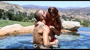 FantasyHD - Karlie Montana and Danny fuck by the pool - 69VClub.Com