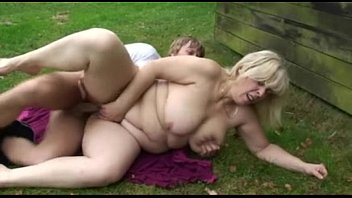 Outdoor sex videos free - Chubby mature blonde eats his cock and then gets drilled outside - free porn sex video - mature, b
