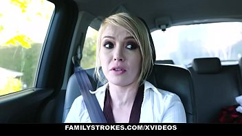 Family Strokes - Kinky Teen Swallows Step Dad For A New Car thumbnail