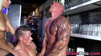 Bisexual threeway spunk