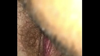 Close up eating wife hairy pussy