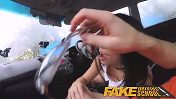 Student free sex Fake driving school half asian tiny student fucks for free lessons