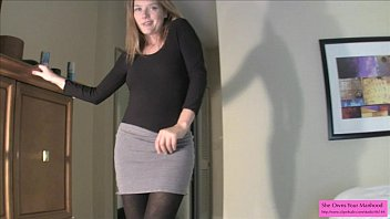 Crossdresser in sexy pattern tights Double joi suck your cum for star