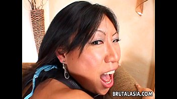 Ling at asian thumbs Enchanting asian babe gets her pussy boned hard