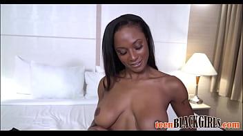 Hot Black Teen Goddess With Big Tits Sarai Minx Casting POV