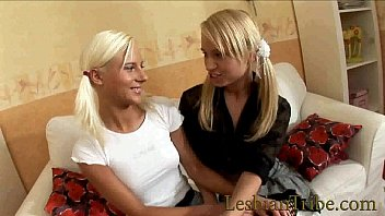 blonde lesbian teens playing toys with assholes