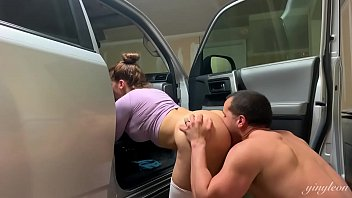 Beautiful latina gets a hard fuck after the gym in the car. Salty fuck!!!!