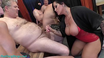 Hardcore ganbang Gangbang party with busty milf ashley cum star