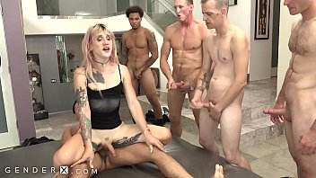 GenderX - Lena Kelly's First DAP In Gangbang