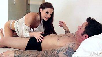 Nympho wife Tina Kay wakes husband up for Balls Deep Anal