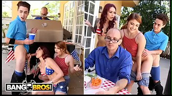BANGBROS - 4th Of July Threesome With Monique Alexander, Adria Rae & Juan El Caballo Loco