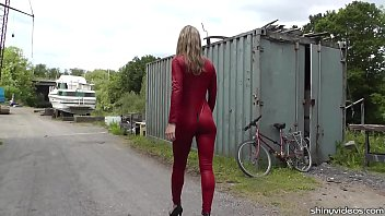 Catsuit sluts - Walk on the wild side with catsuited alina long