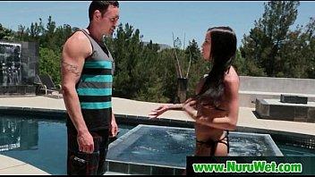 Nuru massage Sex with Busty Japanese Babe 10