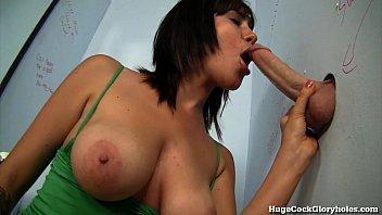 Busty Girl Sucks A Big Dick At Public Gloryhole!